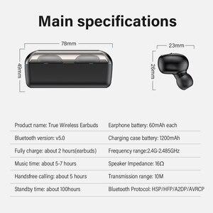 Image 5 - DACOM T8 casque sans fil basse Bluetooth 5.0 écouteur étanche Mini vrai Tws écouteurs avec batterie externe LED affichage PK i12 tws
