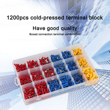1200PCS Assorted Crimp Terminals With Case Insulated Electrical Wire Connector Crimp Terminal Spade Ring Set