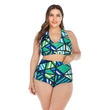 Пуш-ап комплект бикини женский большой размер 4XL купальник купальный костюм сексуальный зеленый женский купальник купальный костюм комплект танкини купальник