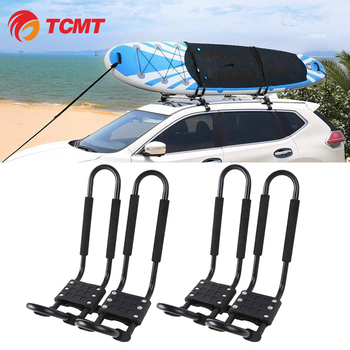 Kayak Carrier Boat Ski Surf Snowboard Roof Mount Car Cross J-Bar Rack Kayak Ladder Canoe Arms Storage Wall Hanger Mount Bracket image