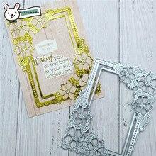 Naifumodo Cutting Dies Metal Flower Frame Die Scrapbooking Album Card Making Embossing Stencil Diecuts Decoration