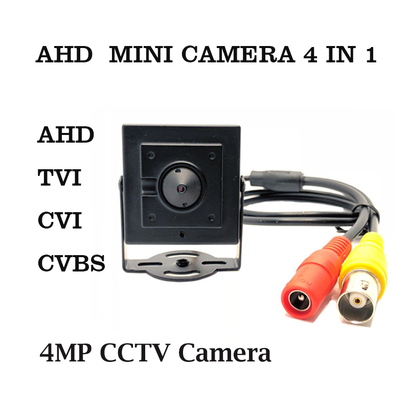 AHD mini camera HD 4MP cctv camera AHD/TVI/CVI/CVBS 4 in 1 security Camera Pinhole lens indoor Surveillance video mini Camera
