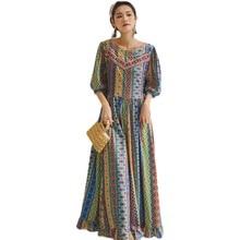Saree Indian Dress Pakistan Clothing Kurties Women Long Casual Maxi-Robe Boho Bohemian-Style