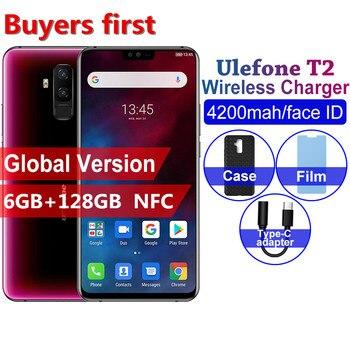 Купить Новый Ulefone T2 4G мобильный телефон Android 9,0 6,7 дюйм19:9 Helio P70 Восьмиядерный 6 ГБ + 128 Гб 4200 мАч NFC Беспроводная зарядка 16,0 Мп смартфон
