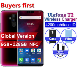 Ulefone T2 смартфон с 6,7-дюймовым дисплеем, восьмиядерным процессором Helio P70, ОЗУ 6 ГБ, ПЗУ 128 ГБ, 4200 мАч, 16 МП, 19:9