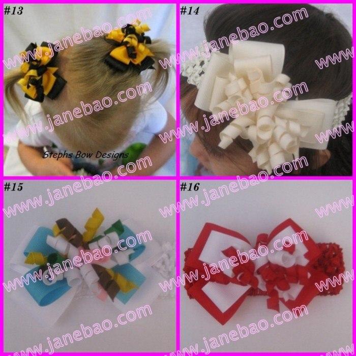 """100 шт """" M2MG слоистый бант для волос Korker бутик коркер заколки для волос(без повязки на голову"""