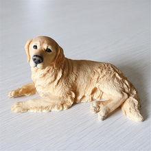 JJM золотой ретривер лояльная собака фигурка для домашних животных животное украшение автомобиля из ПВХ Коллекция моделей кукла игрушка для...