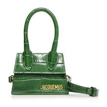 Jacquemus çanta lüks marka PU deri omuz çantası kadınlar için el çantaları 2020 tasarımcı Mini küçük Flap çanta çanta ve çanta yeşil