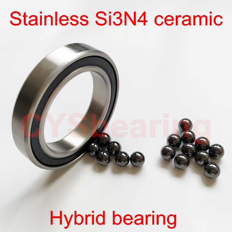 QTY 5 6804RS 20x32x7 mm 6804-2RS HYBRID CERAMIC Si3N4 Ball Bearing Black