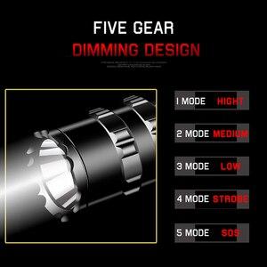 Image 3 - LED 손전등 전문 전술 손전등 토치 사냥 밤 스카우트 세트 L2 물고기 빛 USB 충전식 방수
