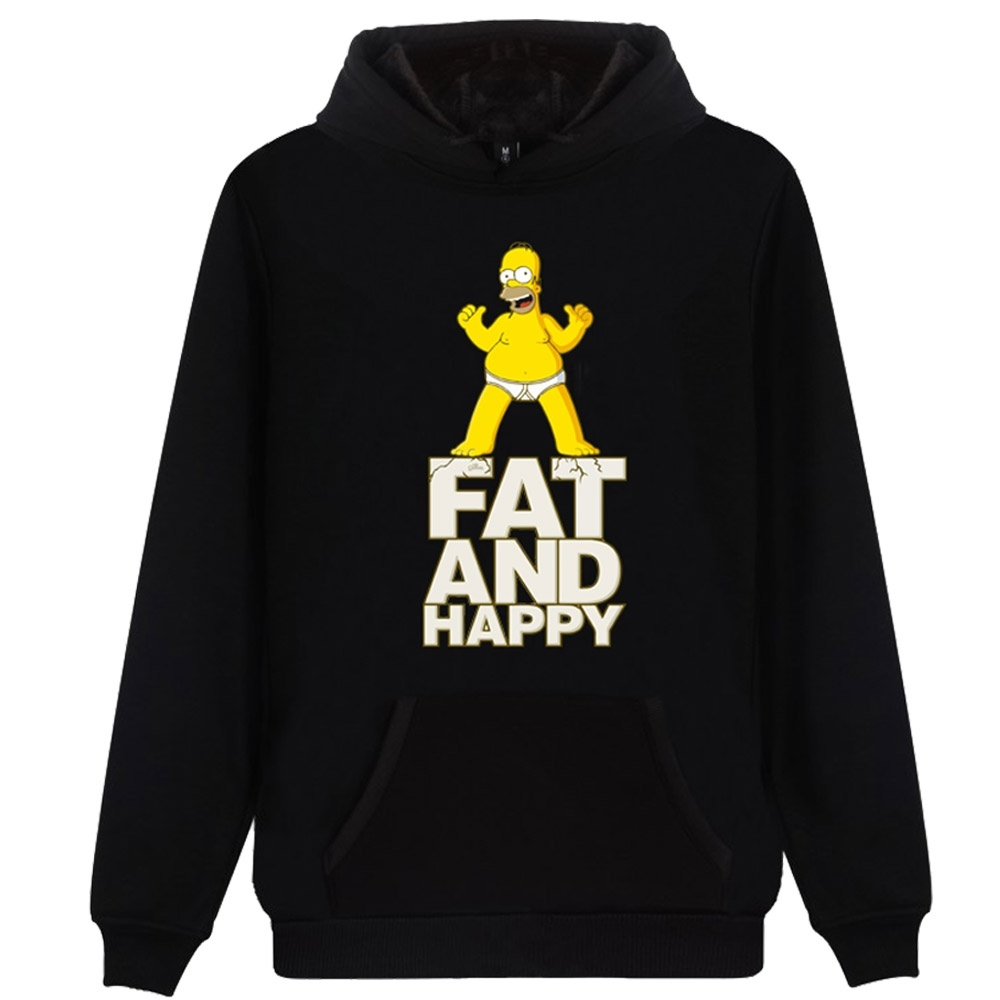 Anime The Simpsons Character Homer Simpsons Bart Simpsons Printed Unisex Hoodies Hooded Sweatshirts Pullovers Tops