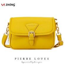 Простая кожаная сумка на плечо YIZHONG, сумки через плечо для женщин, роскошные кошельки и сумочки, женские сумки, дизайнерская женская сумка мессенджер