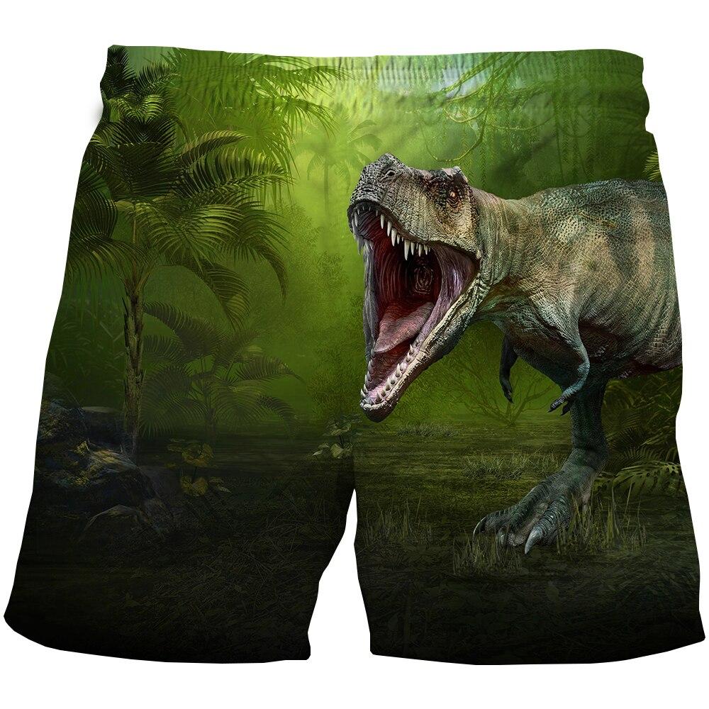 Детские летние шорты для плавания с 3D динозавром, одежда для купания для маленьких мальчиков и девочек, детская одежда, модные пляжные шорты...