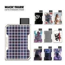 Magic Shark PVC 2.5D Iron Man Captain American Butterfly Sexy Woman Wtaerproof Vape Case Sticker Skin for Voopoo Drag Nano