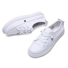 Новинка; сезон весна-лето; Белая обувь; женская парусиновая обувь на плоской подошве; Женская Белая обувь; повседневная женская обувь