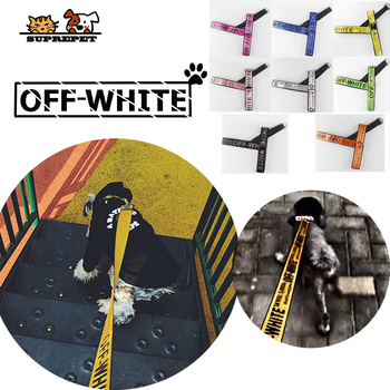 SUPREPET Harness Leash Fashion Pet Dog Harness Vest Nylon Puppy Leash Rope Dogs Leash Nylon Rope Collar for Dogs Cat Off White