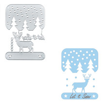 Naifumodo Snowy Deer Metal Cutting Dies for Craft Scrapbooking Embossing Die Cut Stencil Animal