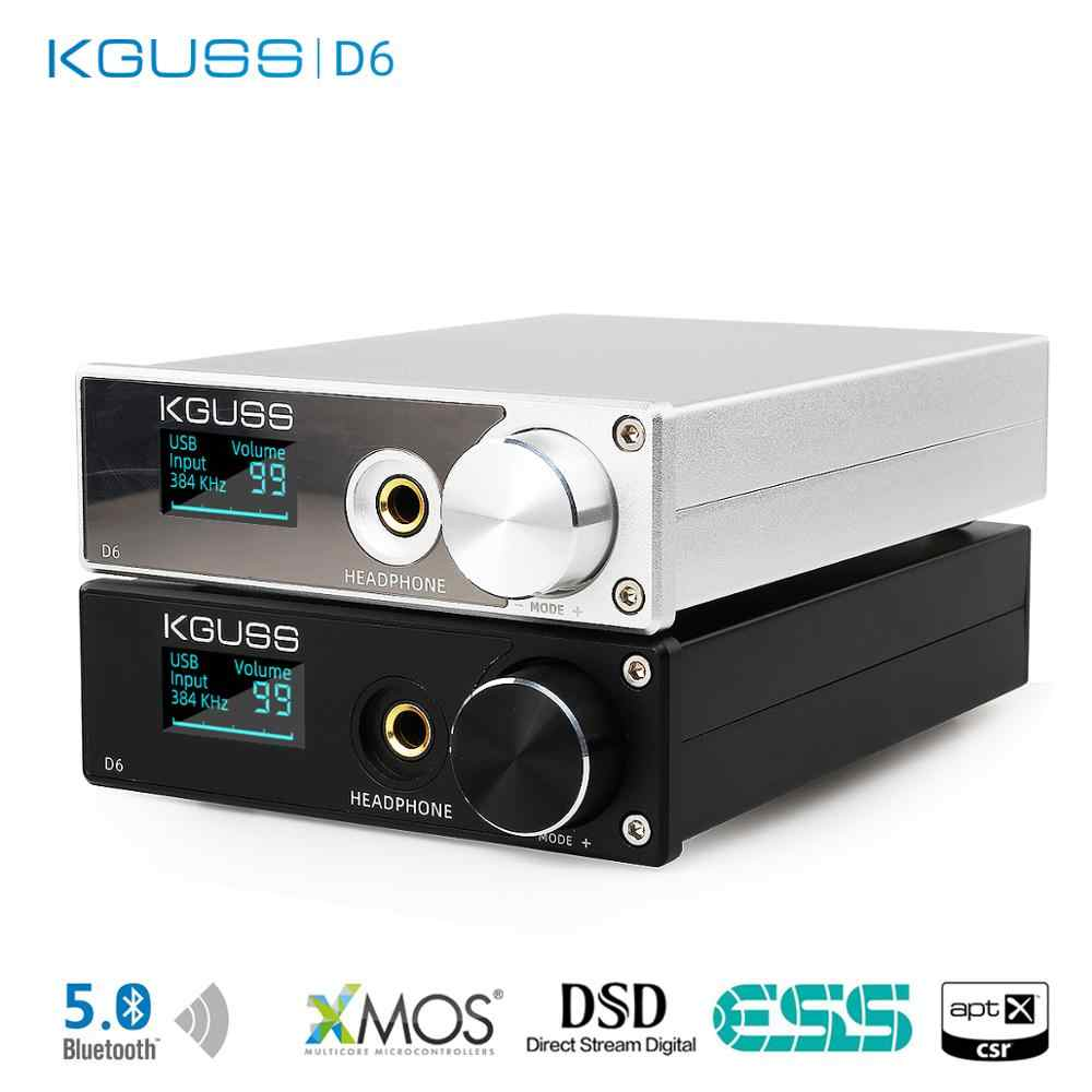 Baru Kguss D6 Bluetooth Decoding Amp ESS9018K2M OPA2134 X 2 USB DAC Xmos XU208 DSD256 Keras Solusi Output Headphone TPA6120A2