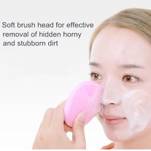 Portable Electric USB Charging Cleansing Brush Remove Blackhead Pore Cleaning Mini Waterproof Silicone Facial Massager
