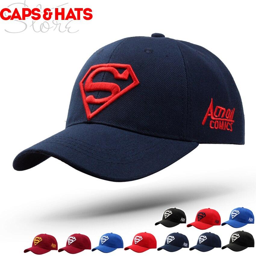 Superman   Baseball     Cap   For Adult Gorras Hombre Bone Snapback Hat Women Golf Trucker Custom Hat Promotion Gift Casquettes Homme