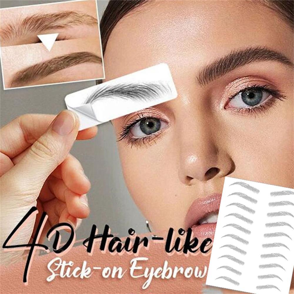 4D Hair-like Eyebrows Makeup Waterproof Lasting Eyebrow Tattoo Sticker Water-based Brow Stickers False Eyebrows Henna Cosmetics