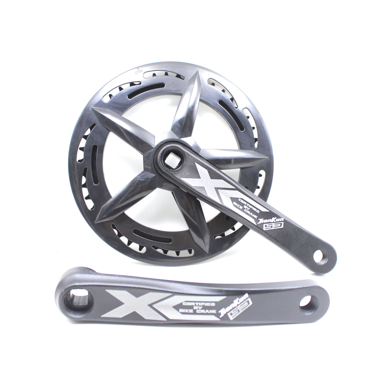 Mountain Bike Crankset Aluminum Alloy Bicycle Crank 170mm Square Hole