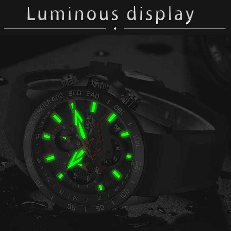 LIGE موضة جديدة الذهب ساعة رجالي ساعات العلامة التجارية الفاخرة الرياضة ساعة عادية موضة مقاوم للماء ساعة كوارتز Relogio Masculino