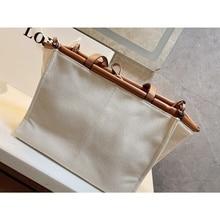 Women Fashion Canvas Large Tote Bag Luxury Designer Shopping Bag Letter Casual Solid Handbags Travel Shoulder Beach Bag