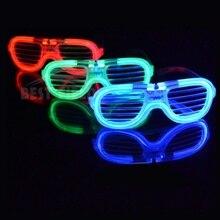 Мигающие вечерние светодиодный светильник очки для вечерние вечеринки на день рождения забавные хитрые флуоресцентные люминесцентные вечерние очки