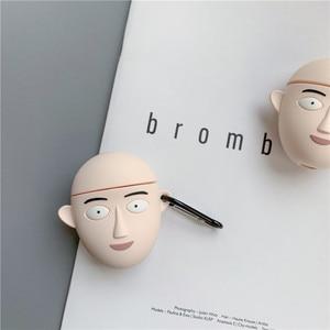 Image 2 - 3D חמוד יפן קריקטורה אחת אגרוף איש בסאיטמה אוזניות מקרים עבור Apple Airpods 1/2 סיליקון עמיד הלם הגנת אוזניות כיסוי
