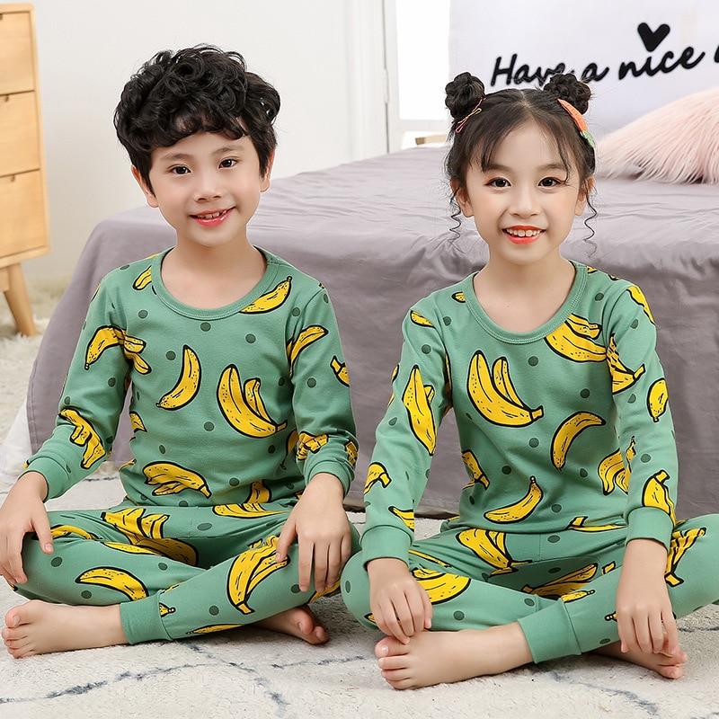 Kids Clothes Big Boys Girls Pajamas Unicorn Pyjamas Kids Sleepwear Cotton Toddler Nightwear Cartoon pijamas enfant Baby pajamas 2