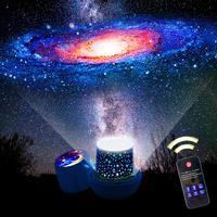 Nuevo increíble proyector de cielo nocturno led estrellado lámpara Estrella luz Cosmos maestro niños regalo batería USB batería noche luz para niños