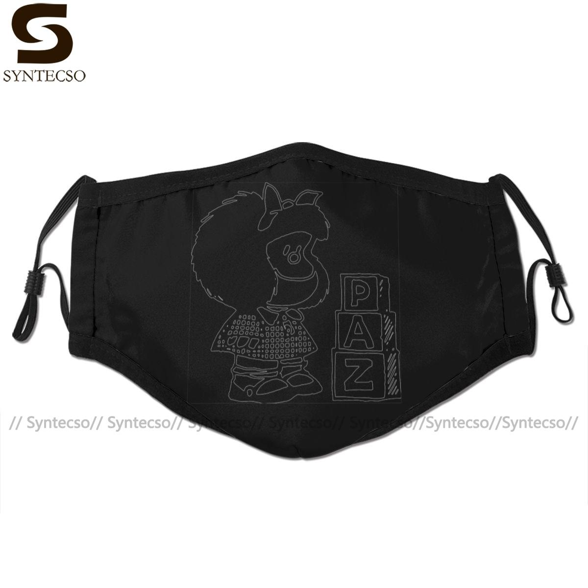 Mafalda Mouth Face Mask Mafalda Facial Mask Fashion Funny With 2 Filters For Adult