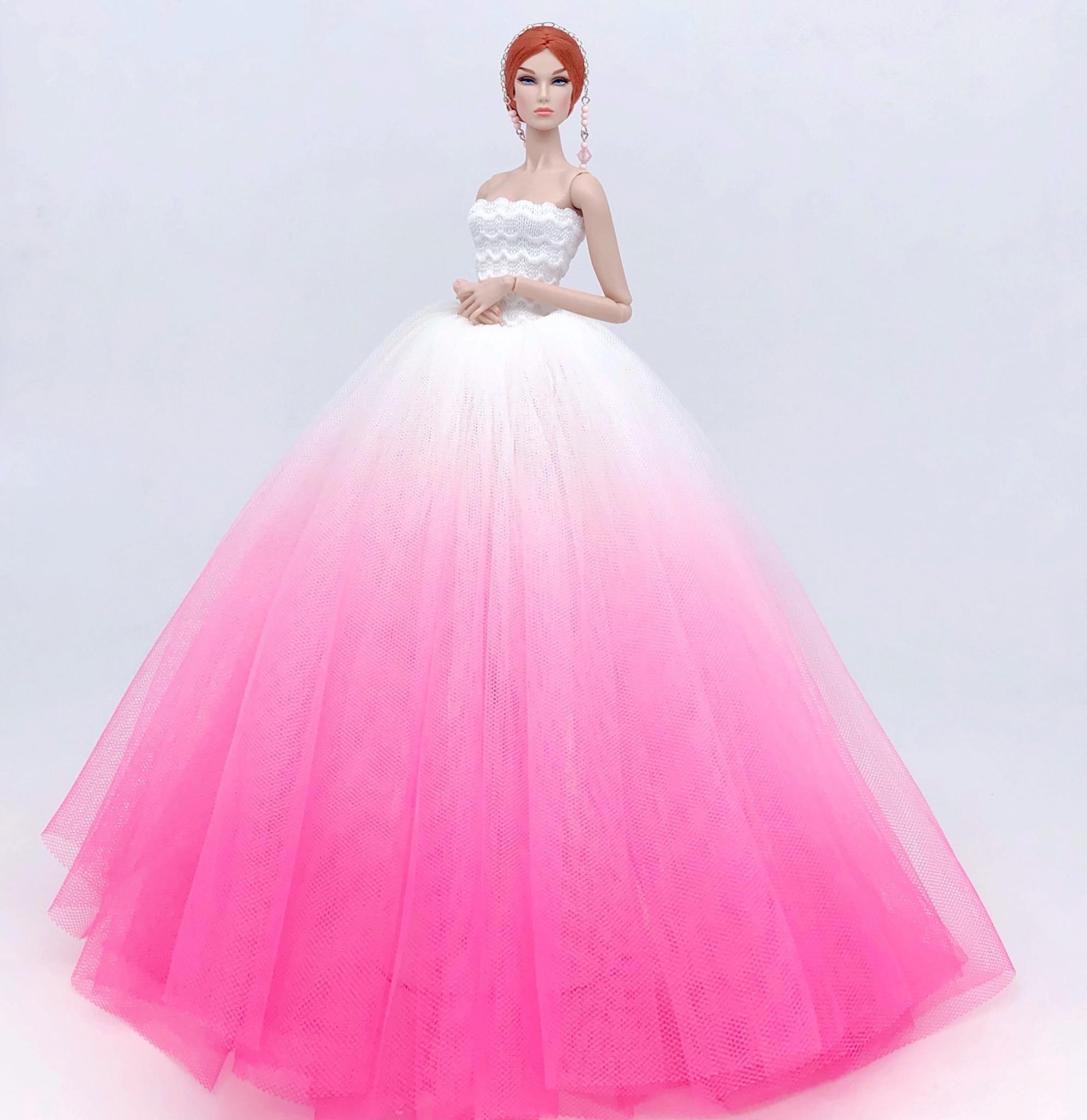 Special Case For Barbie Clothes Wedding Dress Toys Up Doll Clothing For Barbie Doll Wedding Dress Princess Skirt