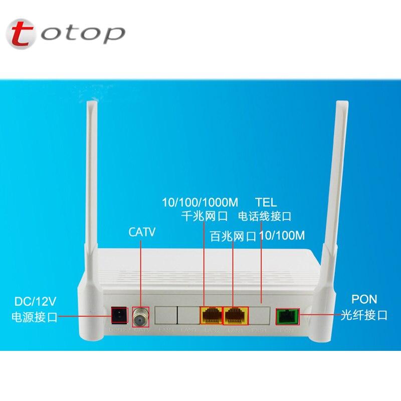 Top Quality 1*10/100M +1*10/100/1000M +CATV +WIFI English Version Fiber Optic Onu Ont Epon Modem Free Shipping