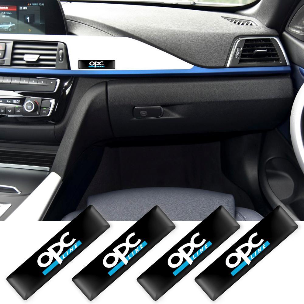 Autocollants décoratifs 3D pour voiture, autocollants avec emblème pour Opel, ligne Opc, accessoires pour voiture, 2/4/10 pièces