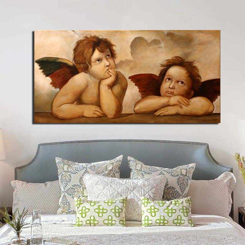 Diamond Painting Oil Painting Cherub Pictures By Numbers Frameless Modern Paint On Canvas Wall For Living Room Home Decor Wall Art 40X50CM