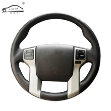 Artificial Leather car steering wheel braid for Toyota Land Cruiser Prado 2010 2015 Tundra 2013 2017 /Custom made Steering Cover