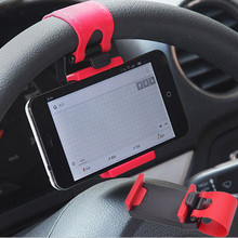 Clips Car Phone Holder Steering Wheel Mount Air Vent Stand Universal For iPhone 7 8 Plus Support Bracket GPS Cell Phone Holder цена