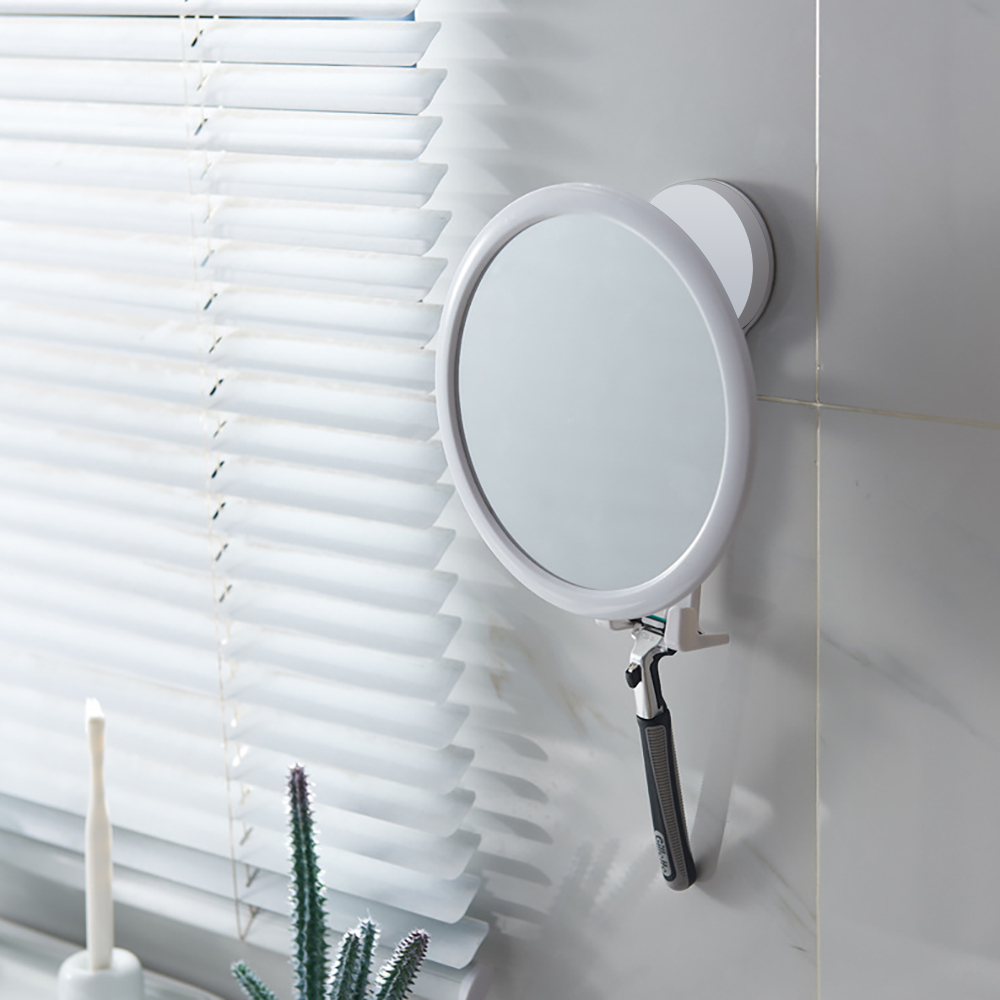 360 Degree Rotation Bathroom Mirror Suction Cup Bath Cosmetic Mirrors Waterproof Bath Shower Mirrors With Shaver Holders