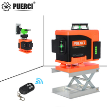 PUERCI 16 Lines 4D Laser Level Level Self-Leveling 360 Horizontal And Vertical Cross Super Powerful Green Laser Level kaitian laser level 5 lines professional laser 635nm slash function vertical horizontal self leveling cross lazer level tools