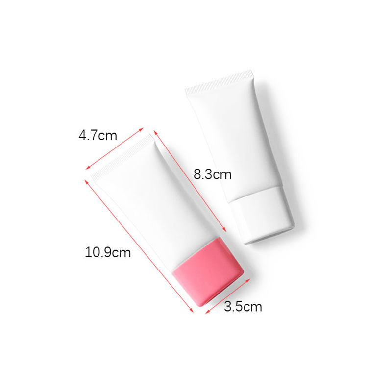 30ml Cosmetic Makeup Concealer BB Cream Lotion Packaging Containers Matte White 30g Flat Soft Tube Empty Plastic Bottles 30pcs
