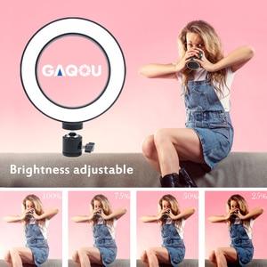 Image 2 - Dimmbare LED Ring Licht Kamera Foto Studio Fotografie Video Make Up Ring Lampe für Youtube VK Selfie Handy mit Stativ