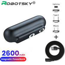 Magnet-Charger Power-Bank iPhone Mini Portable 2600mah External-Battery for 12 Emergency