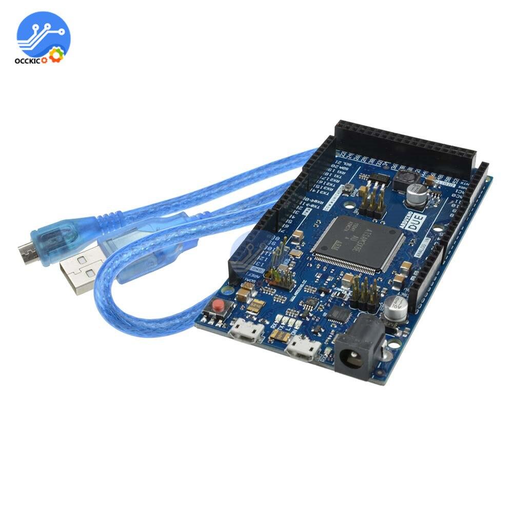 Für Arduino Due R3 SAM3X8E 32-bit ARM Cortex-M Control Board Module Cable New