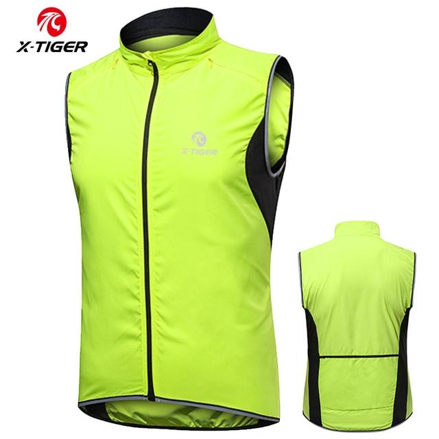 X TIGER Windproof Cycling Vest Rainproof Sleeveless Reflective Safety Vest MTB Bike Jacket Outdoor Sport Quick Dry Rain Jacket