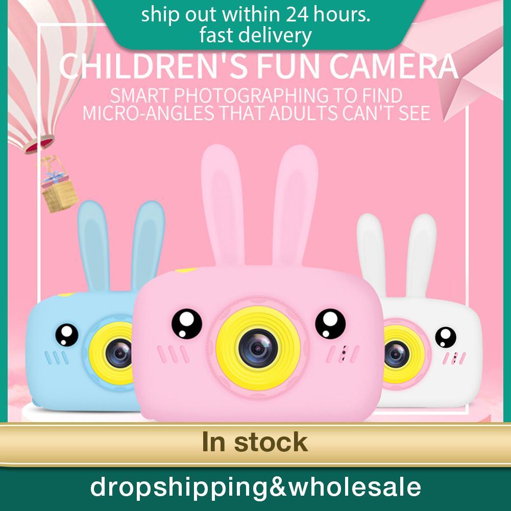 12MP Portable Children 1300W HD Digital Camera Cute Cartoon Bear Shape 2 Inches IPS Screen Mini Camera Toy Gift For Kids