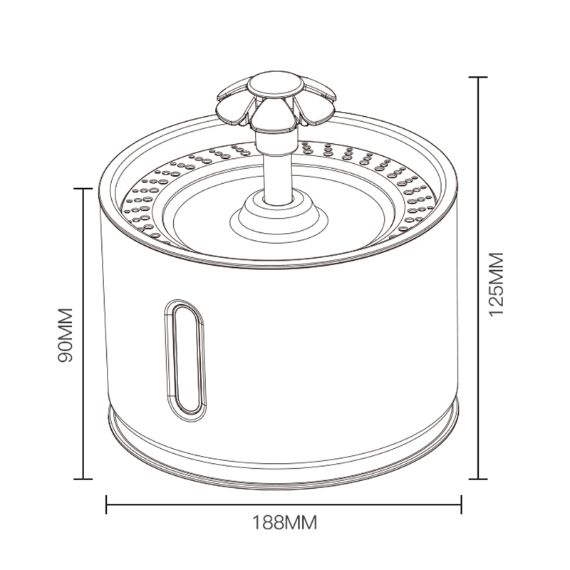 Pets USB Automatic Water Bowl