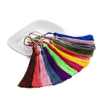 30Pcs 70mm Hanging Rope Silk Tassel Fringe For DIY Key Chain Earring Hooks Pendant Jewelry Making Finding Supplies Accessories 3m small tassel fringe trim craft tassel curtain hanging pendant diy room accessories key tassel wedding jewelry accessories
