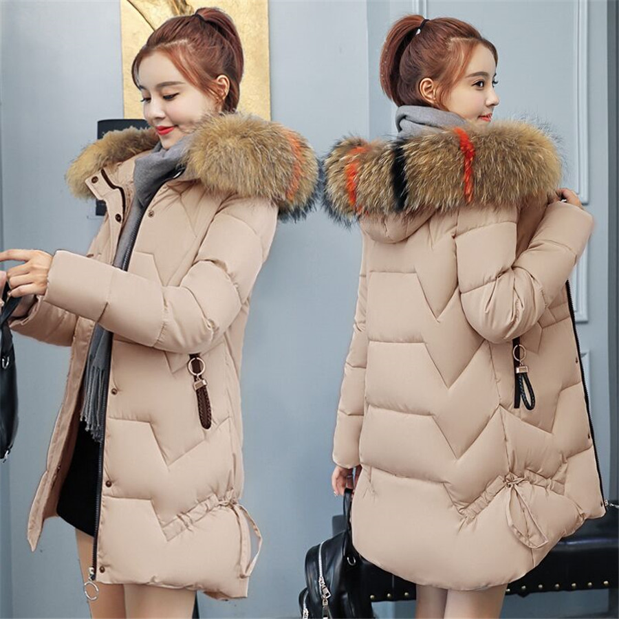 Women   Parkas   Winter Ladies Casual Long Coats Woman Jackets Winter Women Hooded Cotton   Parkas   Warm Coat Outwear 2019plus size